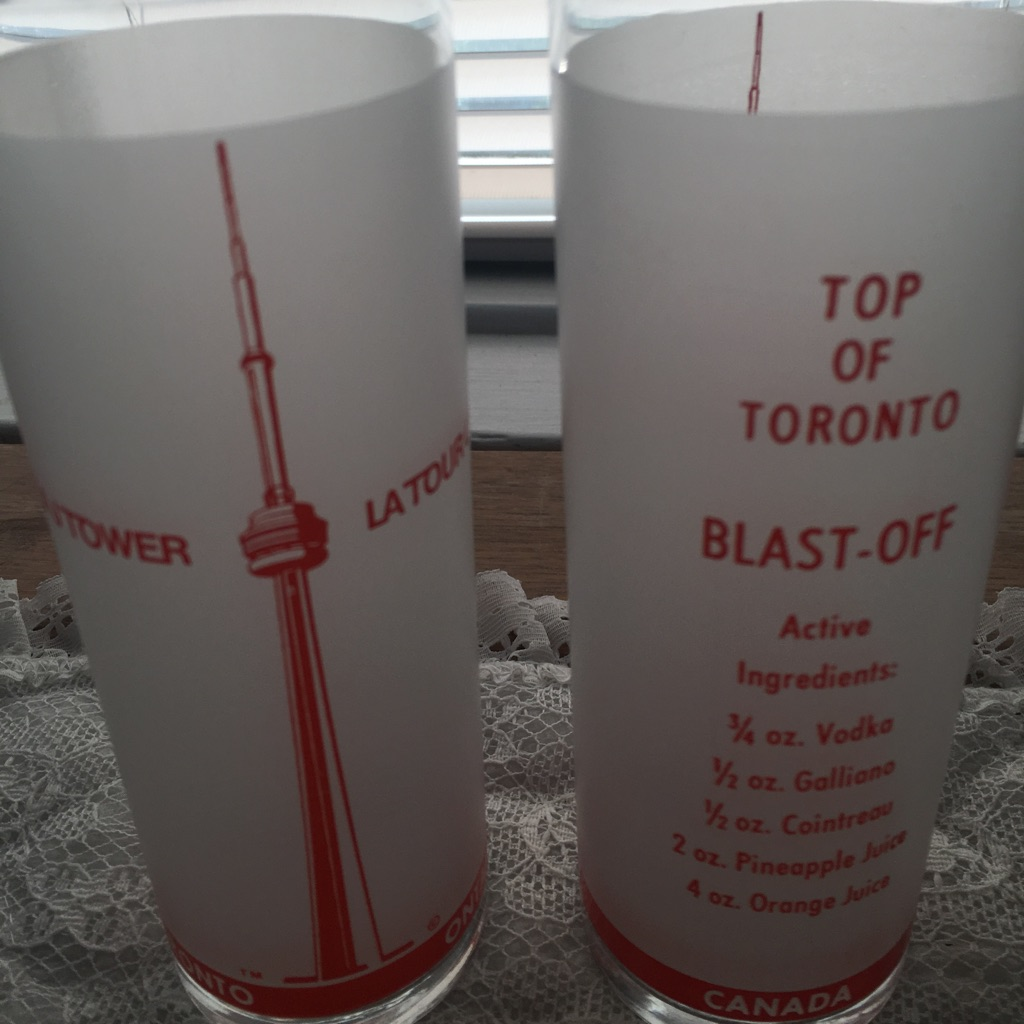 Pair of glasses from CN Tower in Toronto