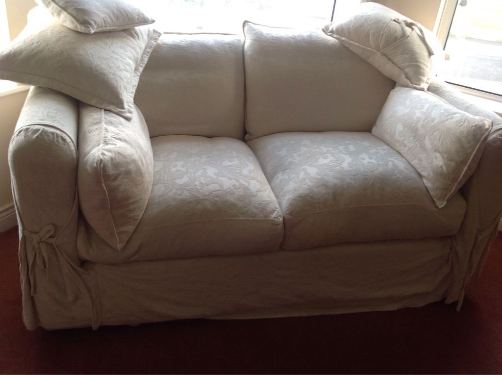 2 Cream fabric sofas REDUCED