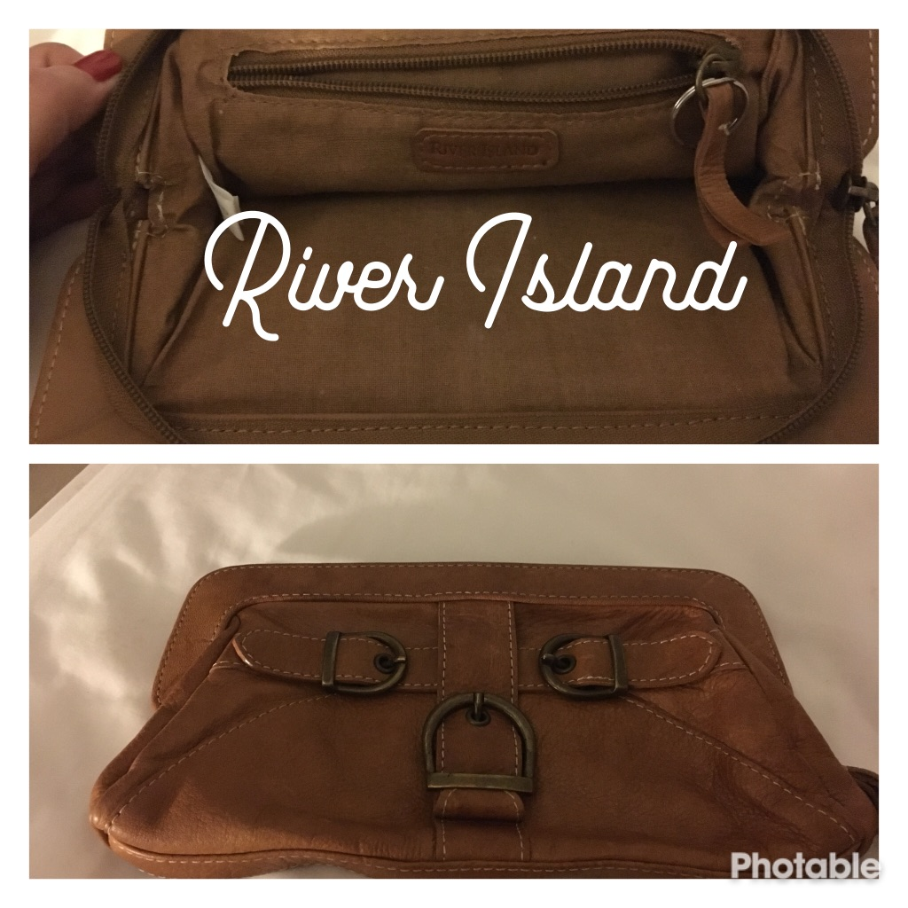 River Island Tan Clutch