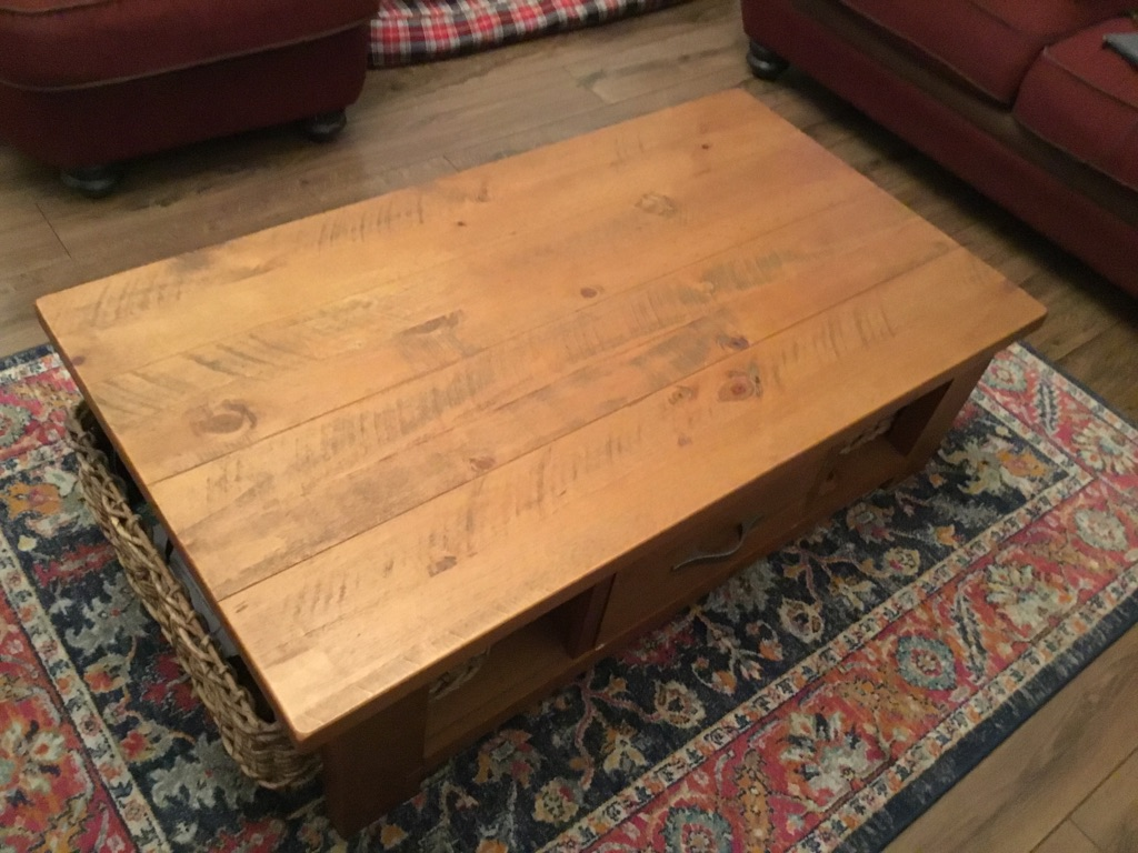 Coffee table and corner TV unit from Next
