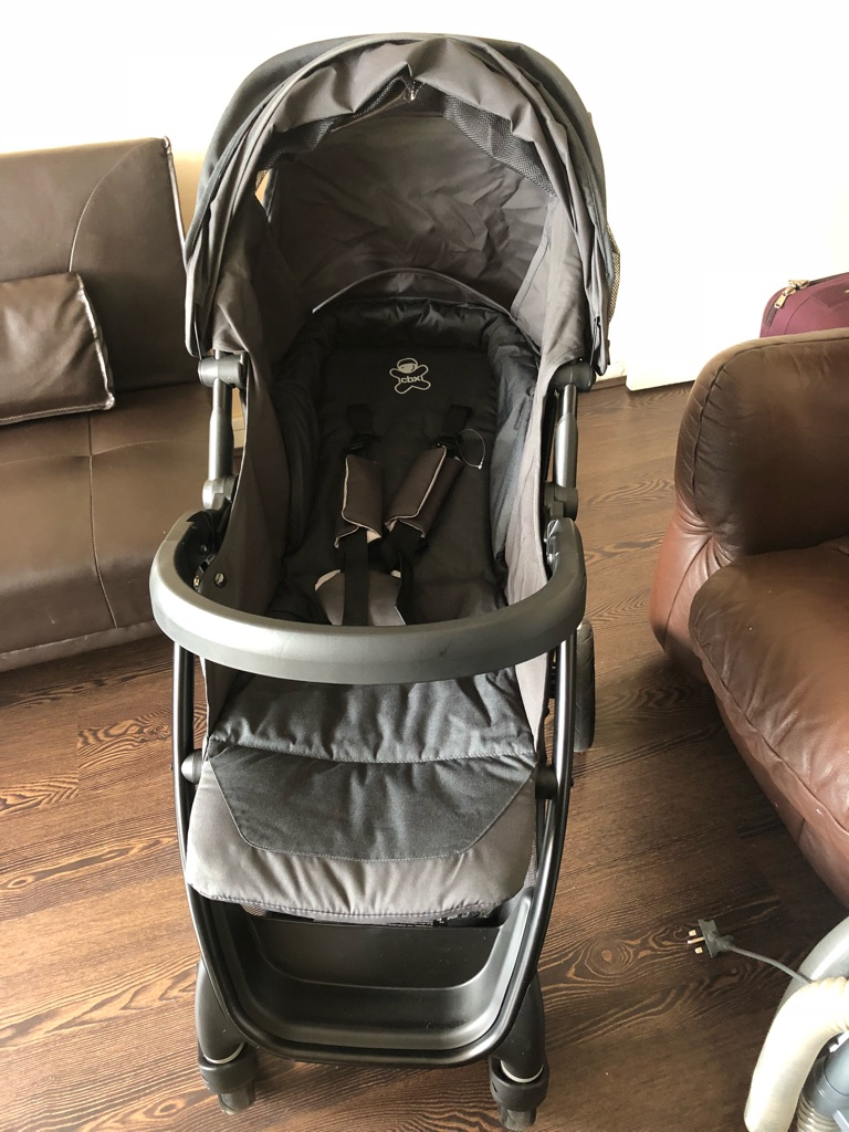CBX black pushchair with car seat