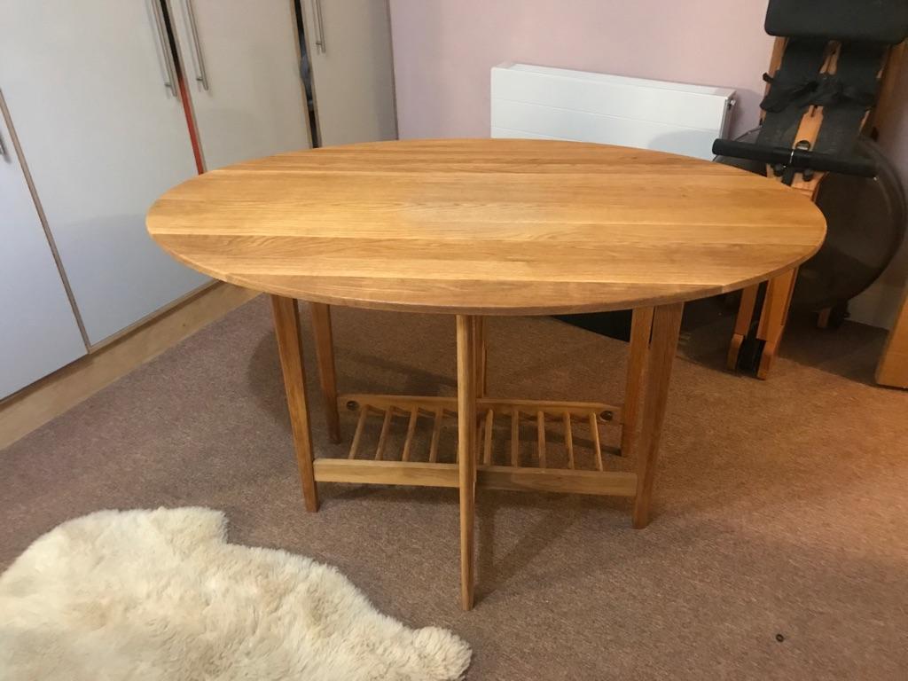 Solid oak folding table