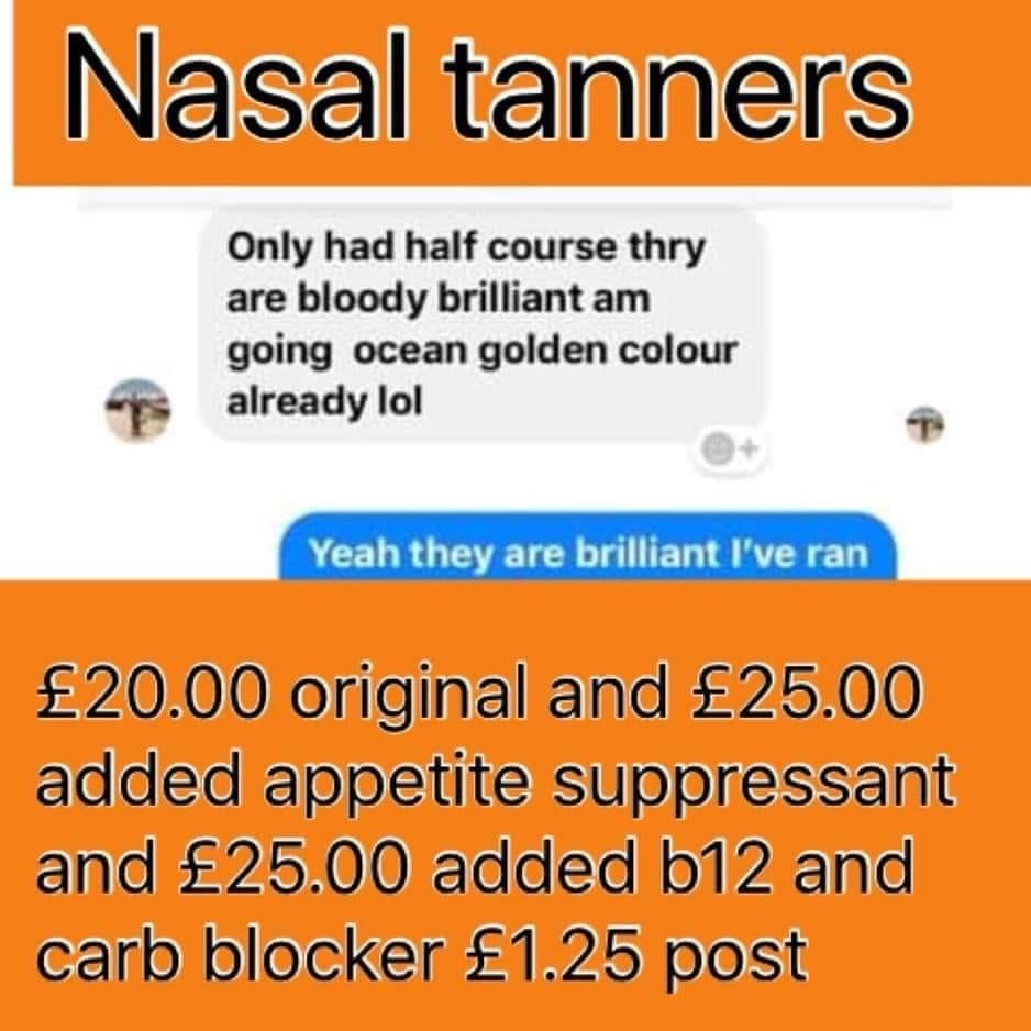 Nasal tanners