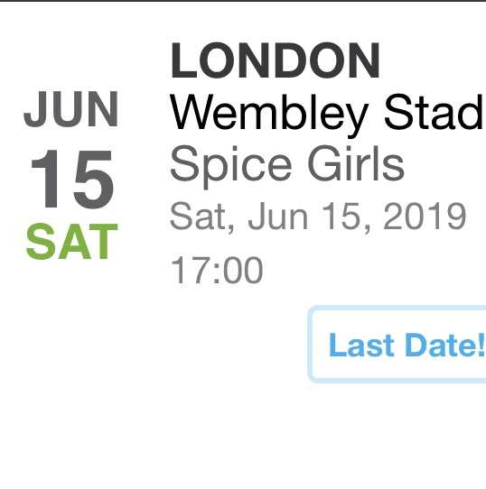 Spice girls your ticket