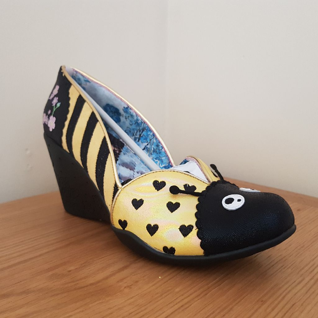 Irregular Choice 'lady been Bumble Bee wedges size 41 BNIB