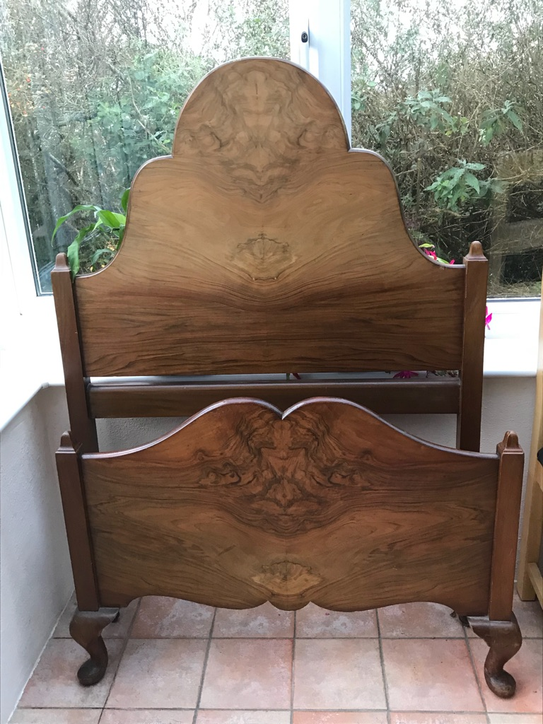2 x Vintage Solid Wood Single Beds