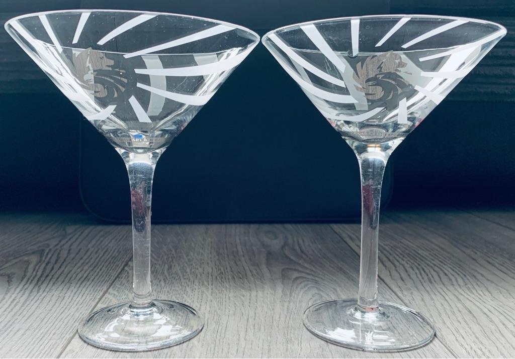 2 x Russian Standard Vodka Cocktail Glasses