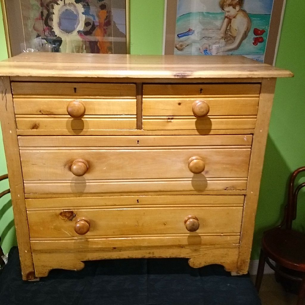 Simple pine chest of drawers