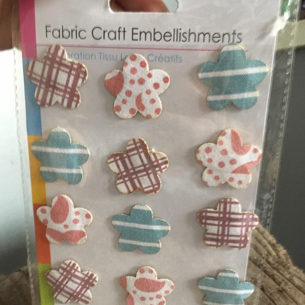 Fabric craft embellishments