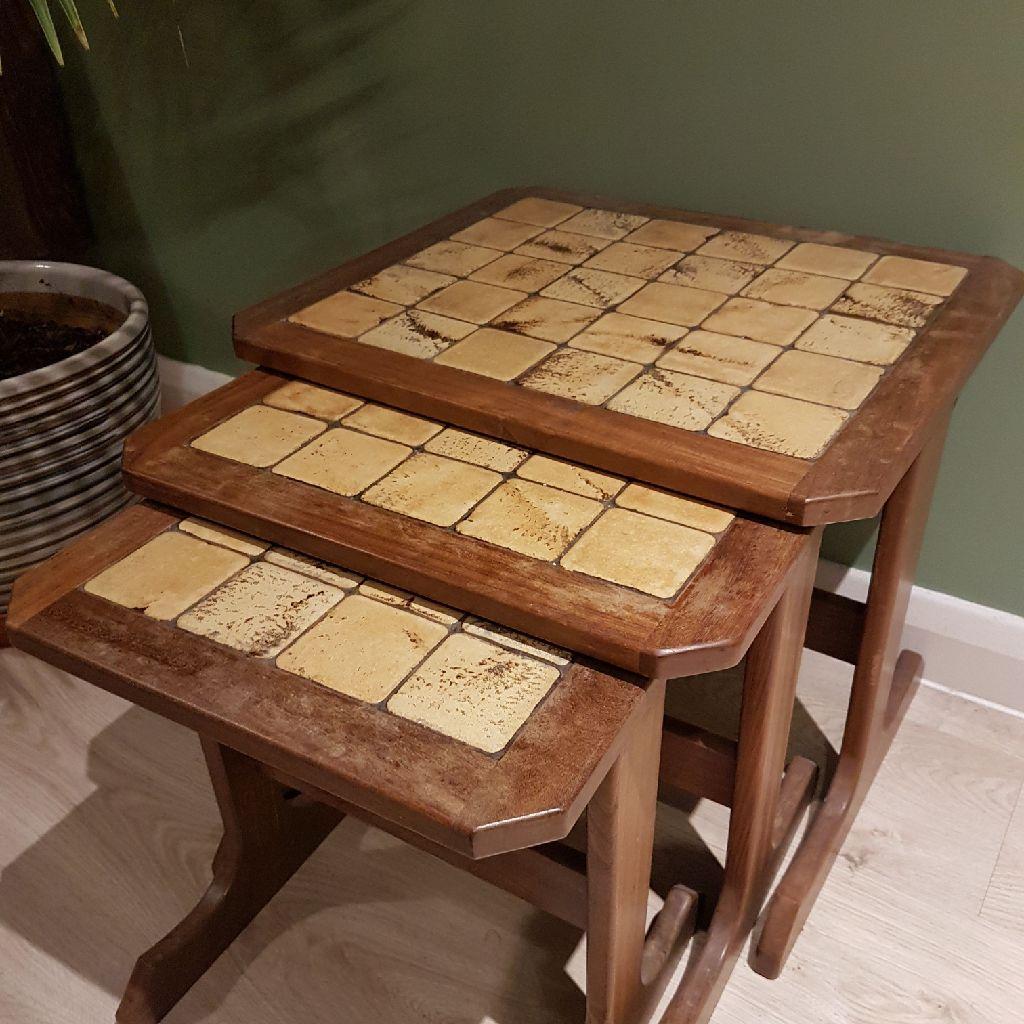Teak midcentury Danish G Plan style nest of tables