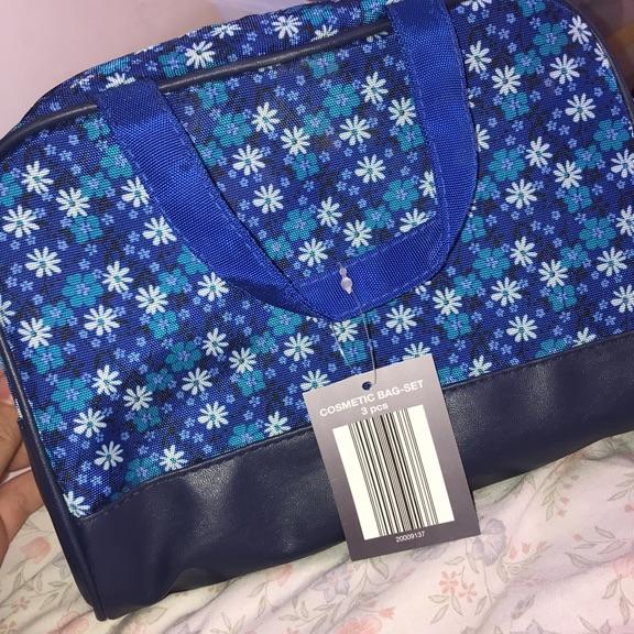 Makeup bag 2pc originally 3pc set
