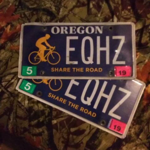 Oregon plates clean