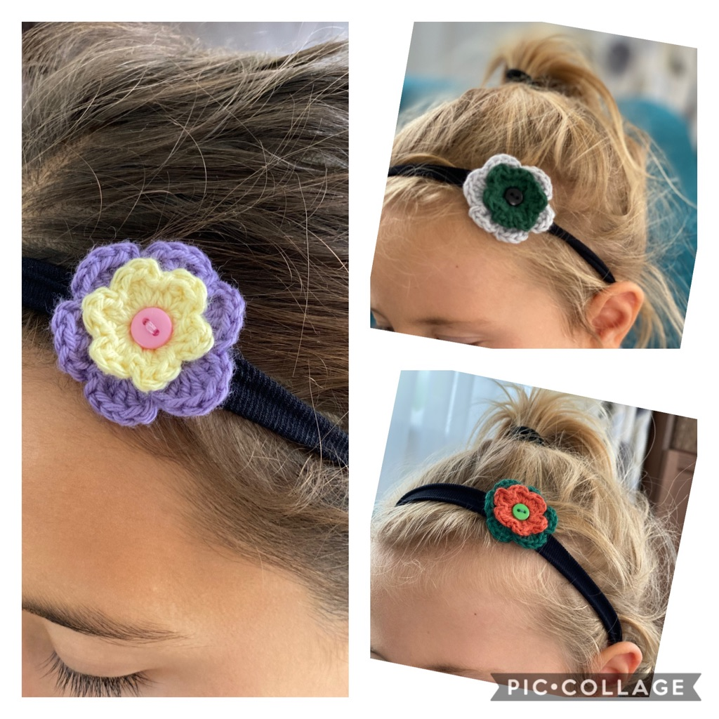 Handmade elastic headbands