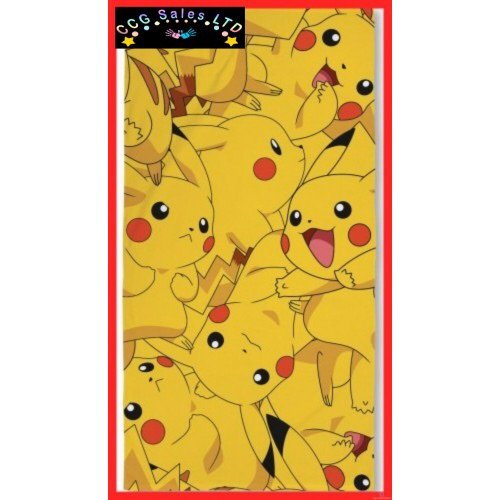 """Official Pokemon """"Boom"""" Character 100% Cotton Velour Beach Towel"""