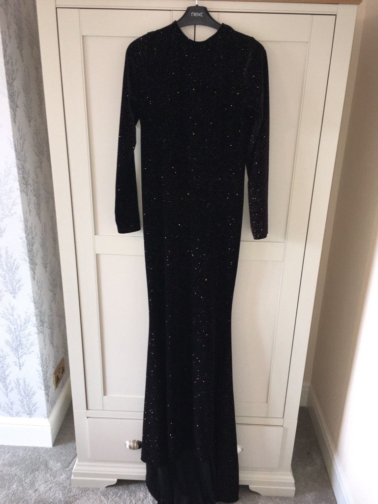 Black Full length glitter gown