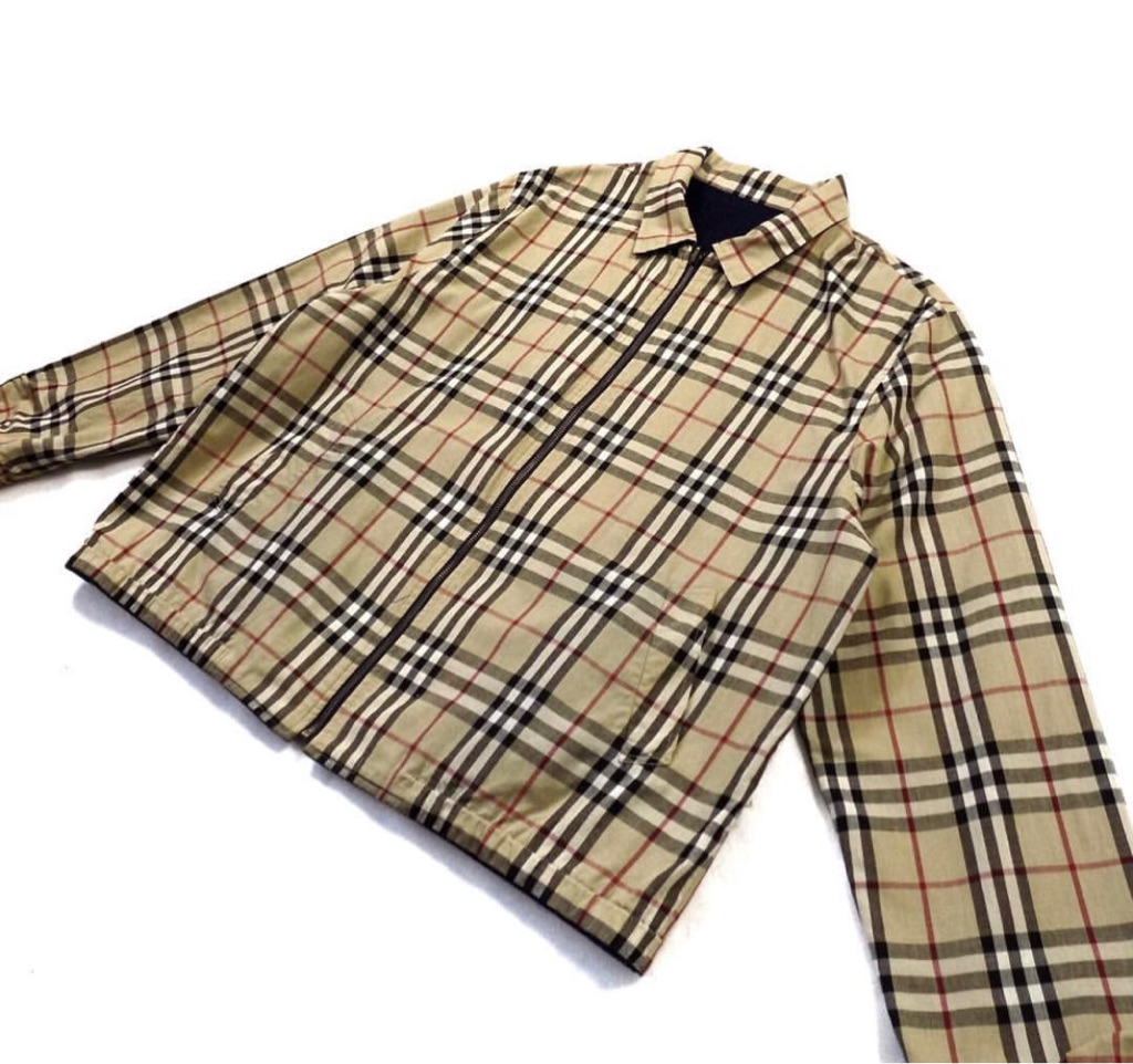 Vintage Burberry reversible nova check navy Harrington