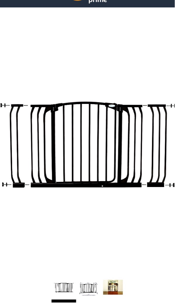 Black Chelsea Xtra Wide Security Gate
