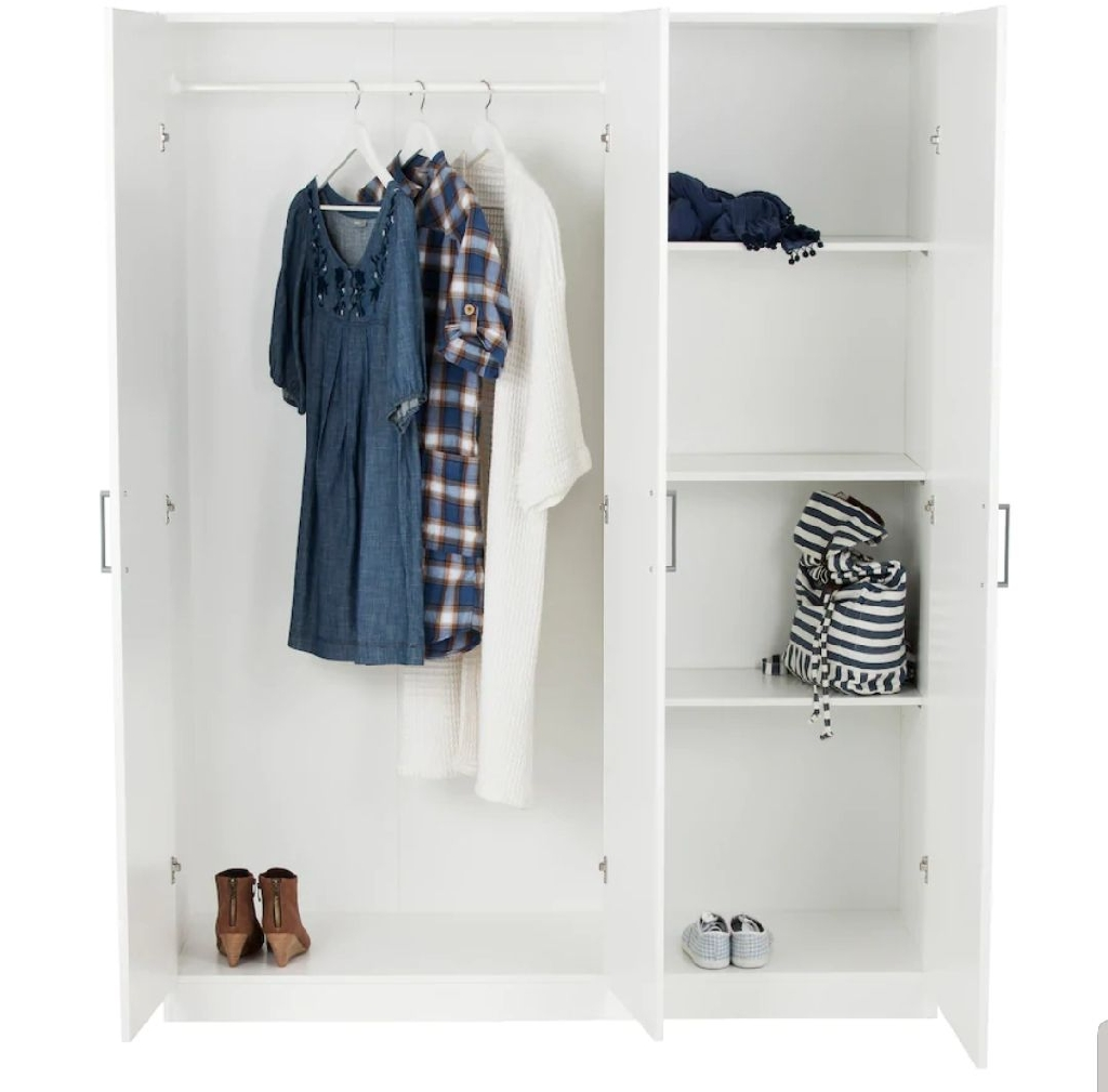 White wardrobe from IKES