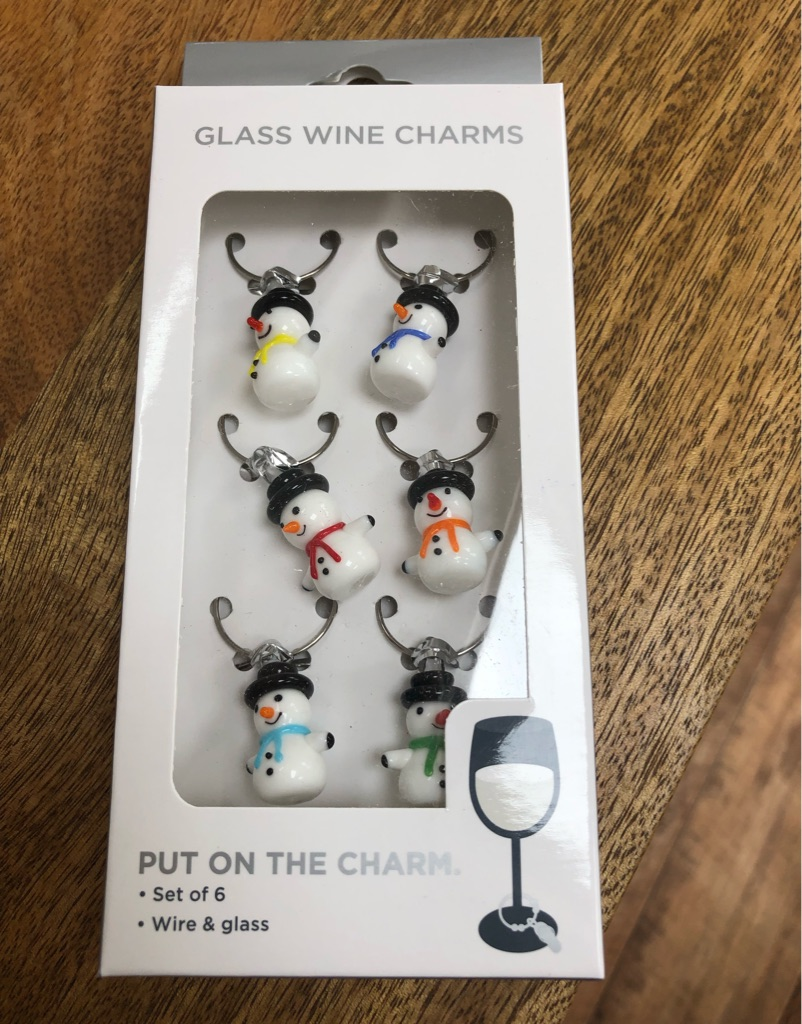 Snowman Wine Glass Charms