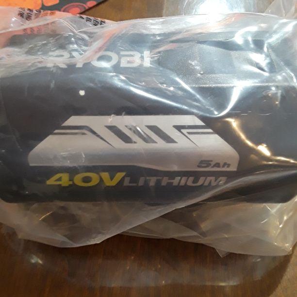 Ryobi 40 v 5ah lithium ion  battery