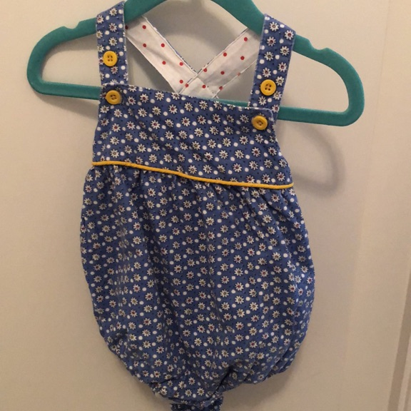 Baby Boden corduroy romper 3 to 6 month