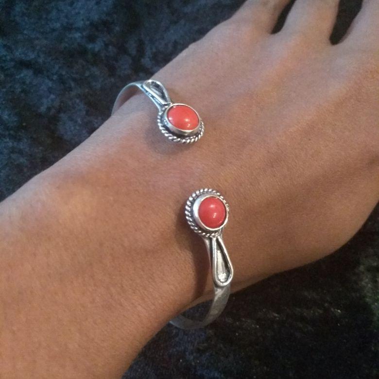 Red Coral Bracelet Cuff