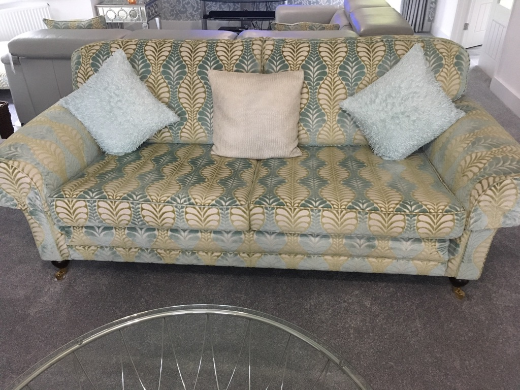 Sofaworkshop Sofa and footstool for sale.  Paid £2,375.00.  Immaculate condition.