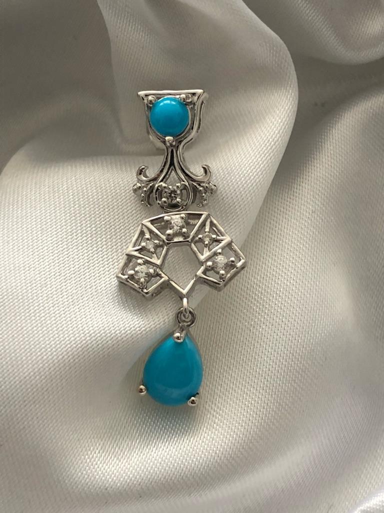 Arizona Sleeping Beauty Touquoise Earring sterling silver 925