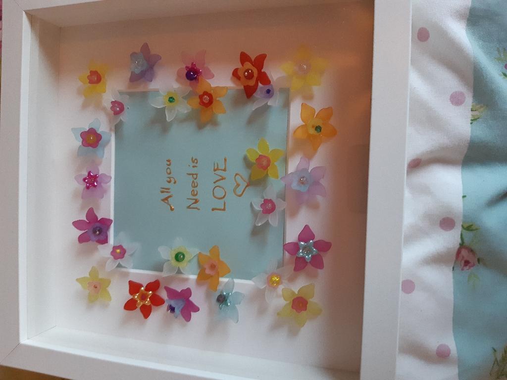 Handmade 3D bead flower pictures