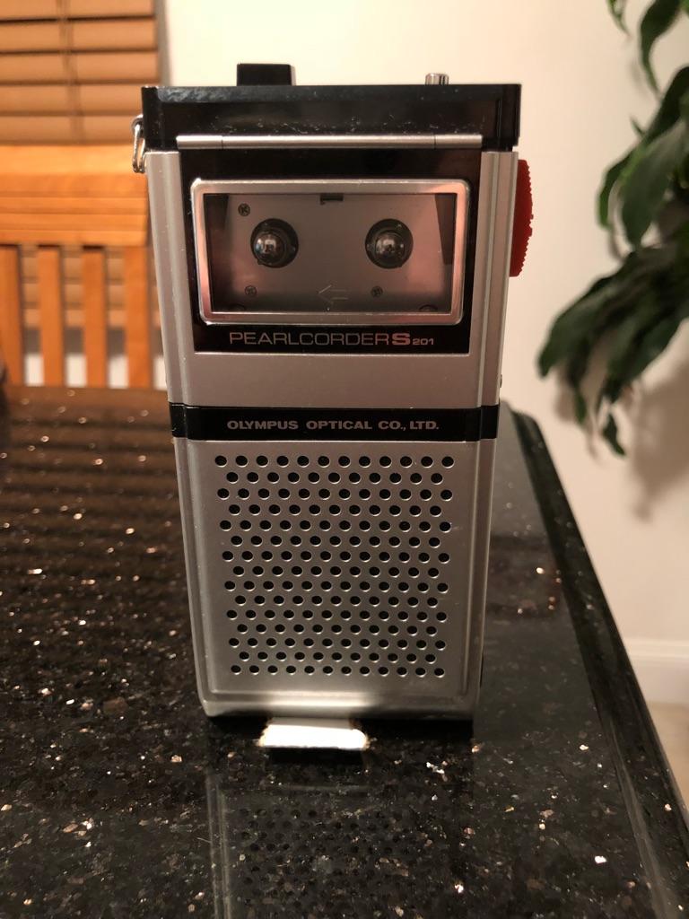 Vintage tape voice recorder