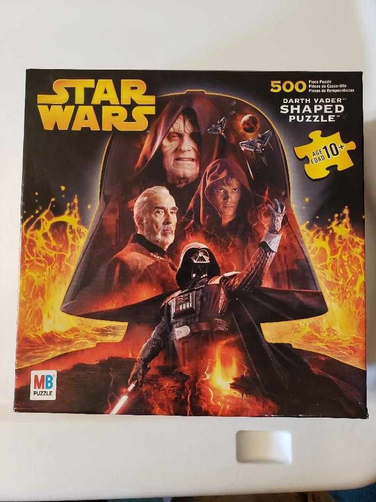 Darth Vader shaped puzzle