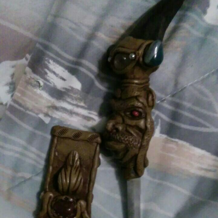 One of a kind knife handmade decorated