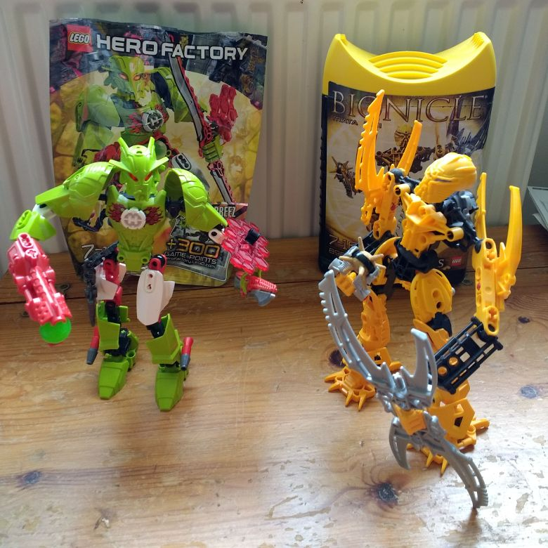 Bionicle and Hero factory
