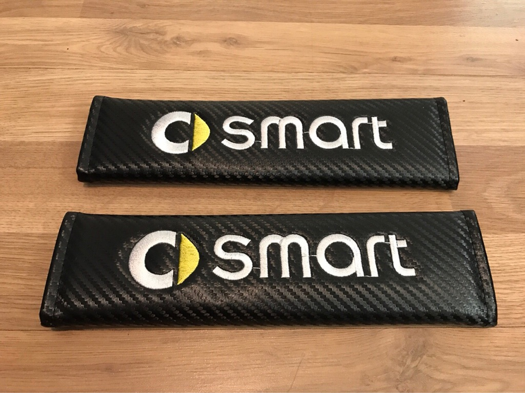 2X Seat Belt Pads Carbon Gift Smart Fortwo Forfour City Roadster MHD
