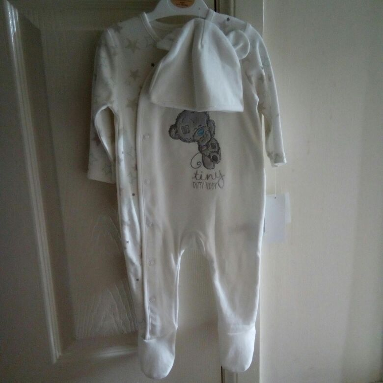 Baby grow and hat