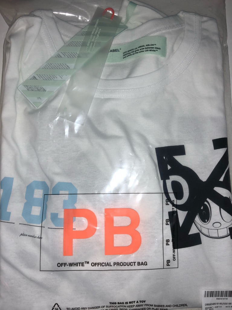 OFF WHITE C/O VIRGIL ABLOH X TAKASHI MURAKAMI TEE SIZE LARGE BNWT (1 OF 400)  SOLD OUT
