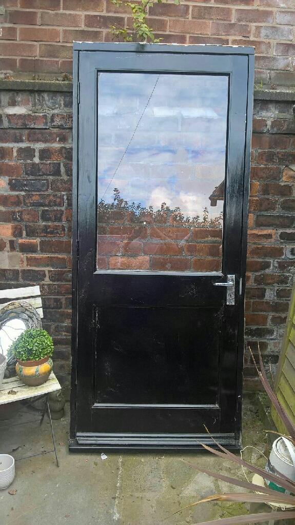 Hardwood Garage / Back door