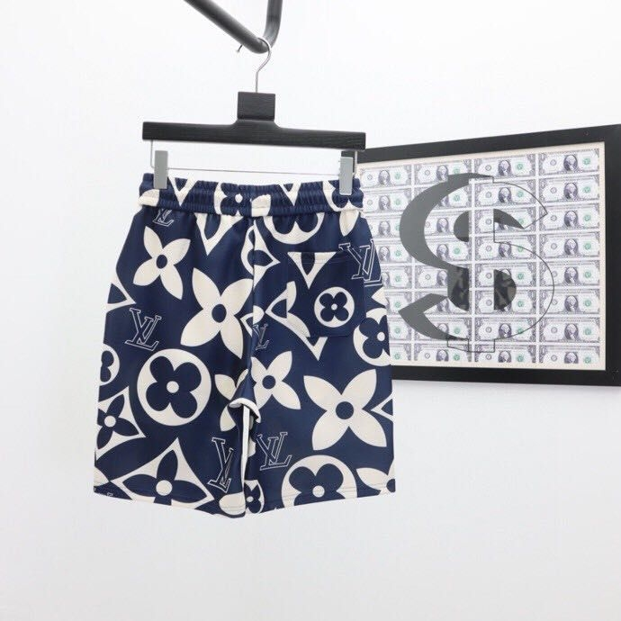 LV Monogram Print Jacquard Shorts