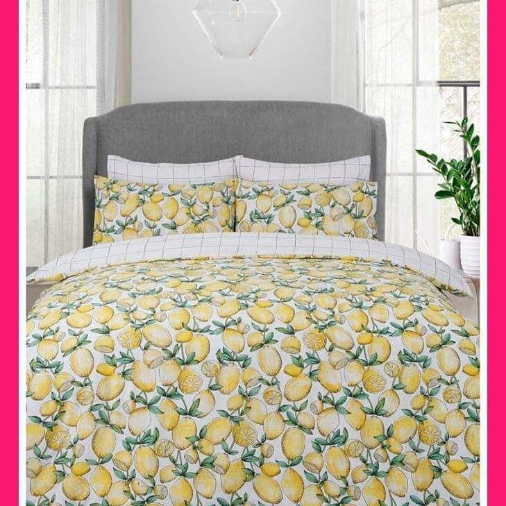 Lemon fruit duvet set