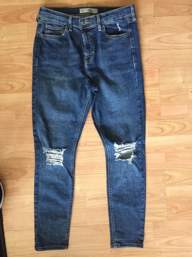 Top shop tip knee jeans
