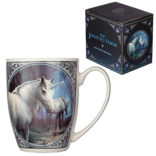 Lisa Parker new bone china mug- journey home unicorn design