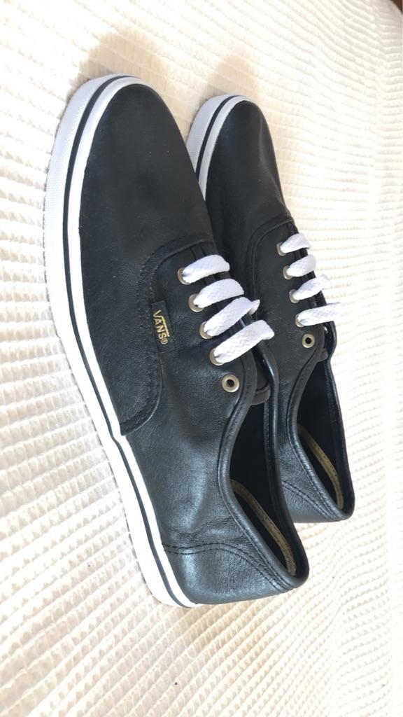 Black leather vans - Uk size 6 | Village