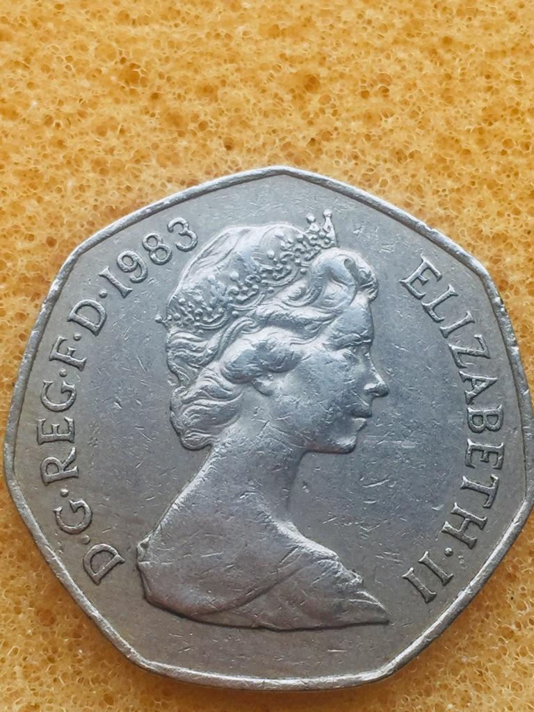 50p coin Britannia large 1983...a
