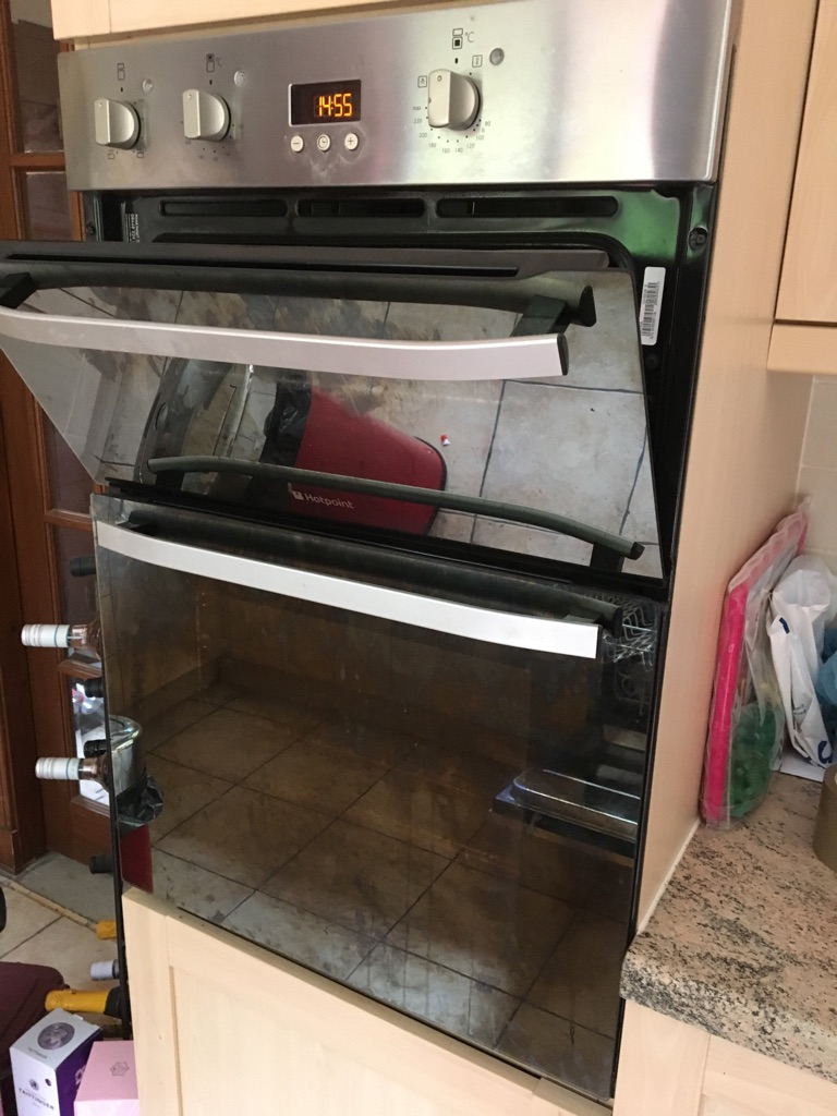 Hotpoint stainless steel double oven