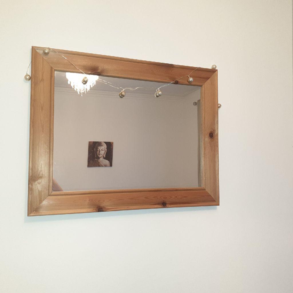 Oak  natural mirror