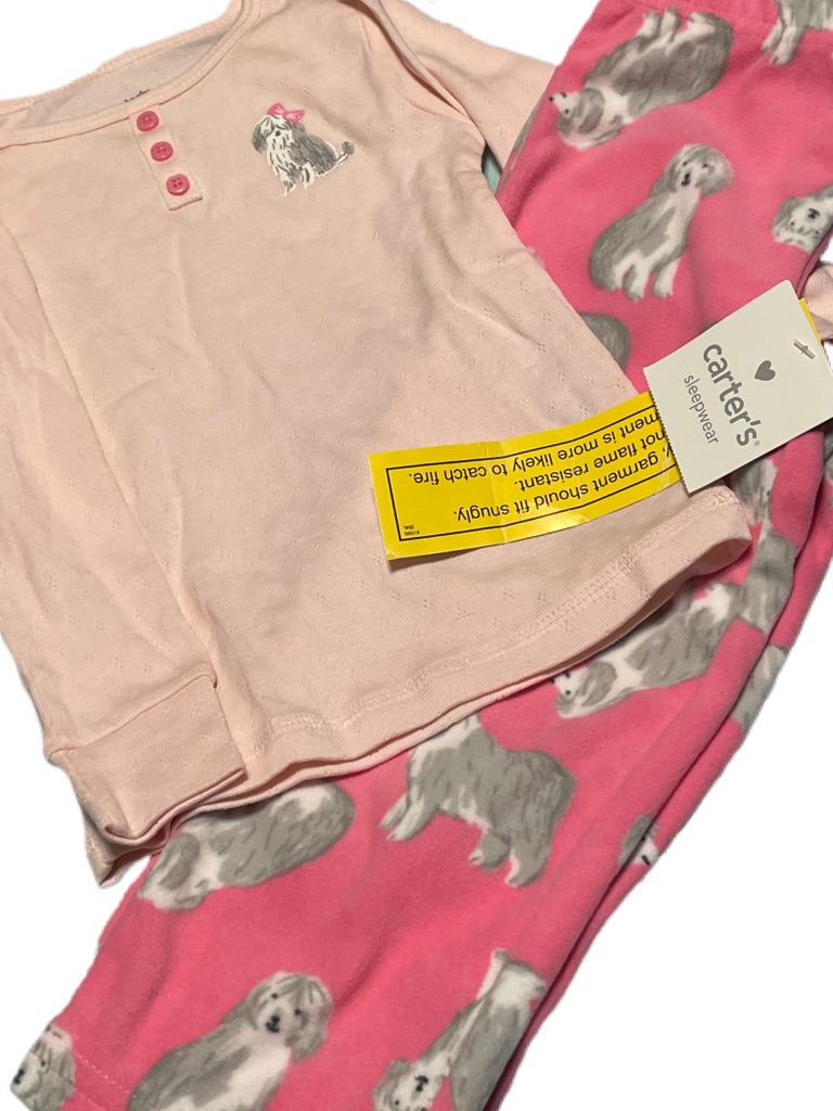 Carter's Flannel Doggie Pajamas Size:2T