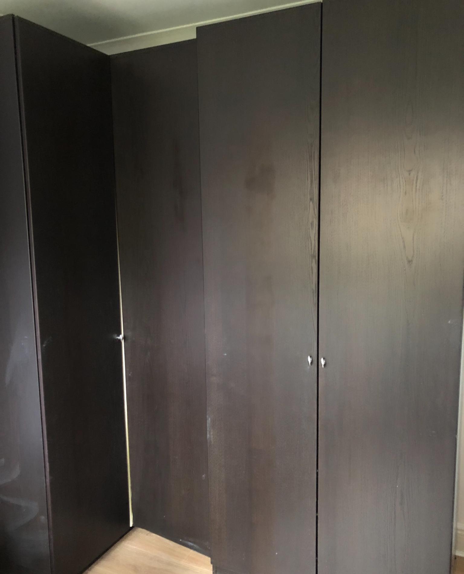 Two IKEA PAX wardrobes