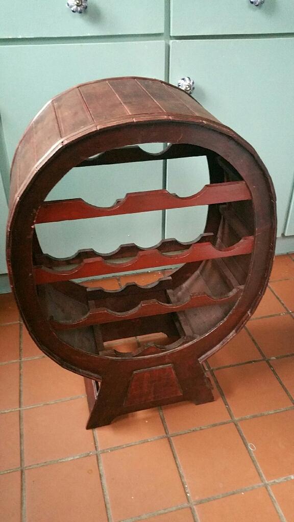 Wooden vintage wine rack