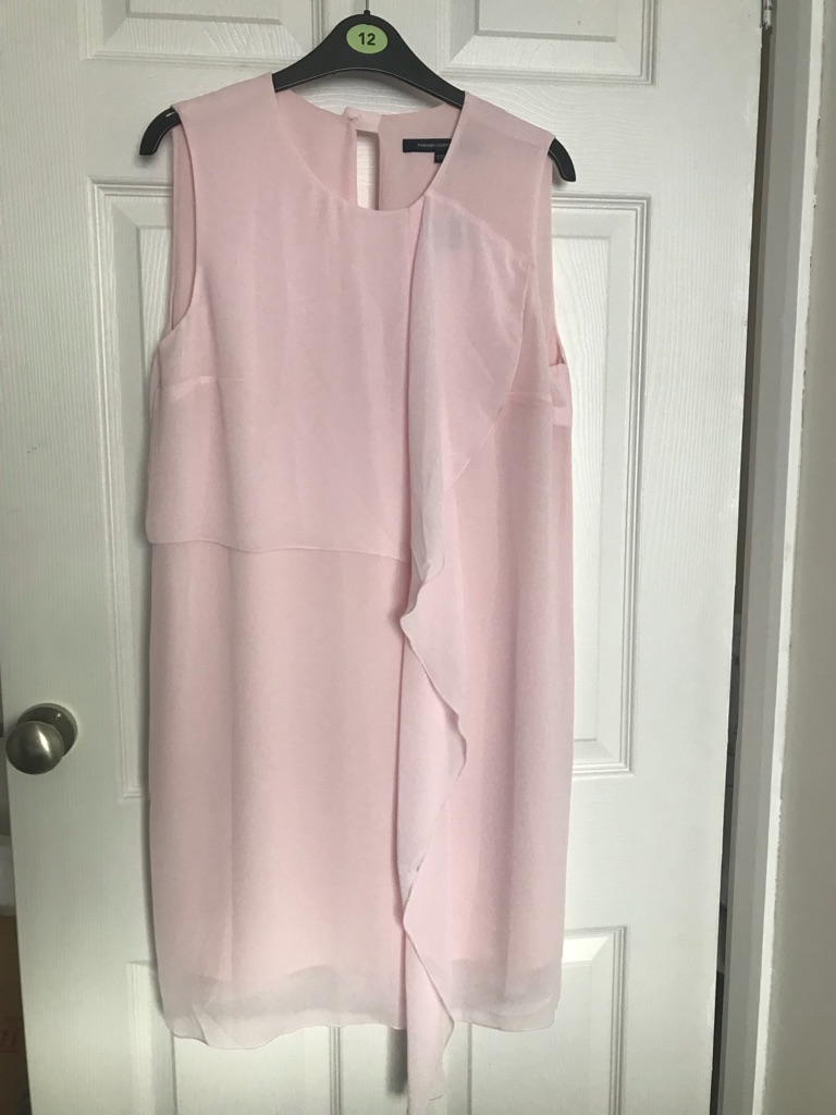 French Connection James Sheer Fluted Front Dress
