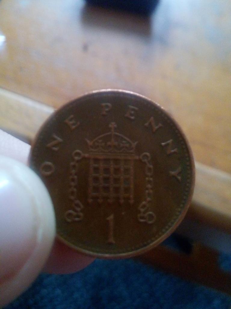 Rare! Misprinted 1p coin!!